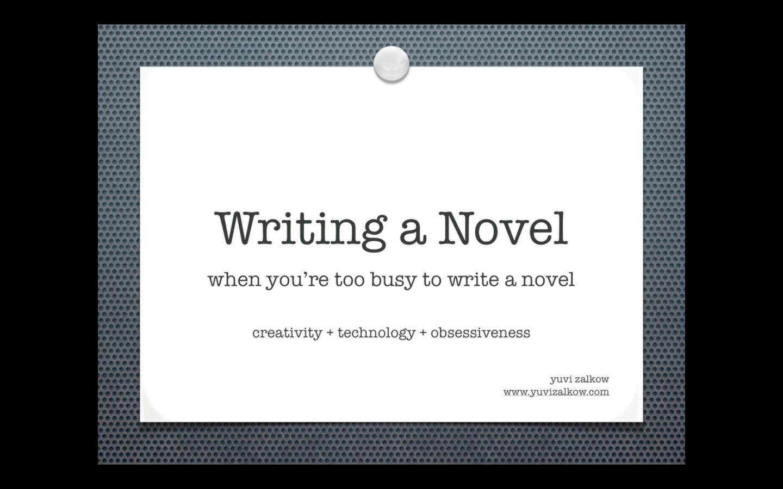 I'm writing a novel...?